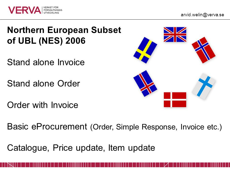 Northern European Subset of UBL (NES) 2006 Stand alone Invoice