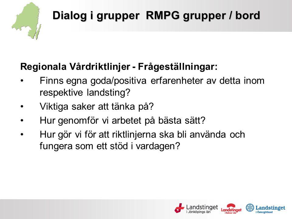 Dialog i grupper RMPG grupper / bord
