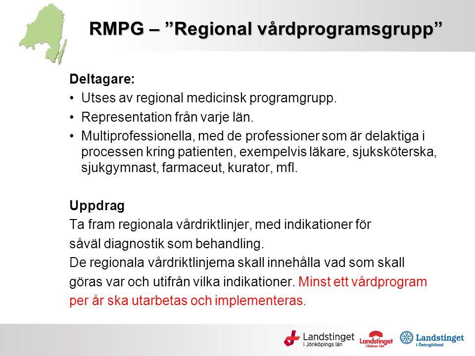 RMPG – Regional vårdprogramsgrupp
