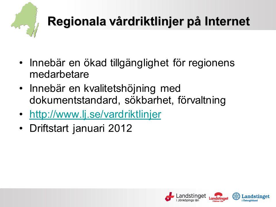 Regionala vårdriktlinjer på Internet
