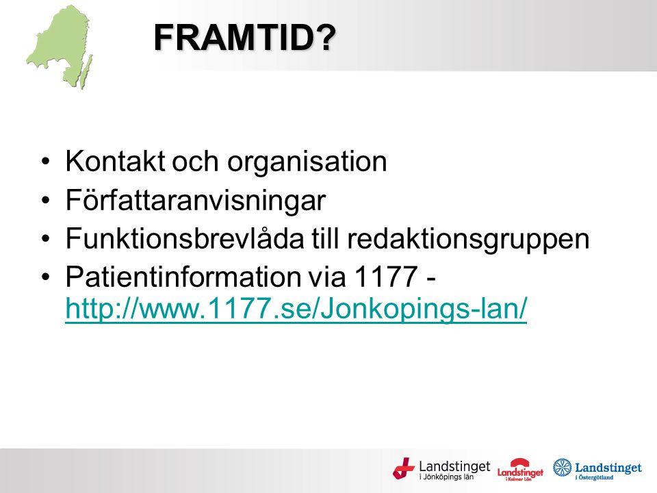 FRAMTID Kontakt och organisation Författaranvisningar