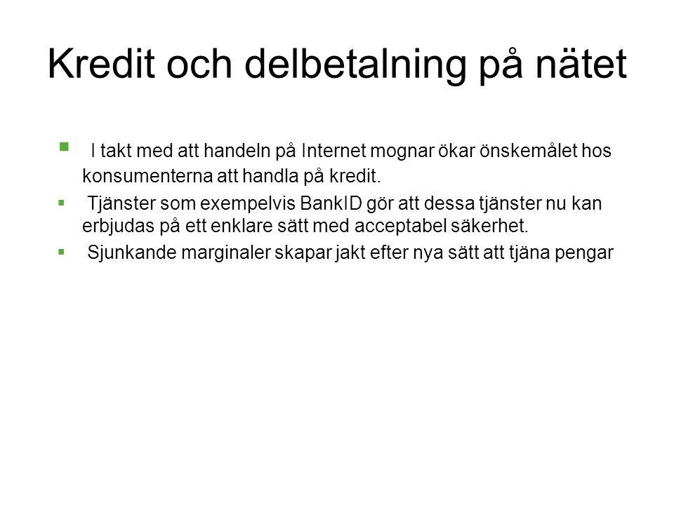 Kredit och delbetalning på nätet