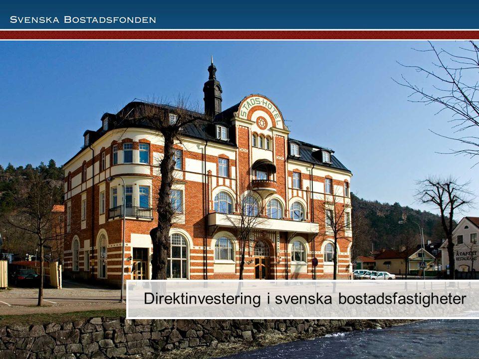 Direktinvestering i svenska bostadsfastigheter