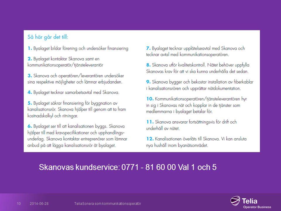 Skanovas kundservice: 0771 - 81 60 00 Val 1 och 5