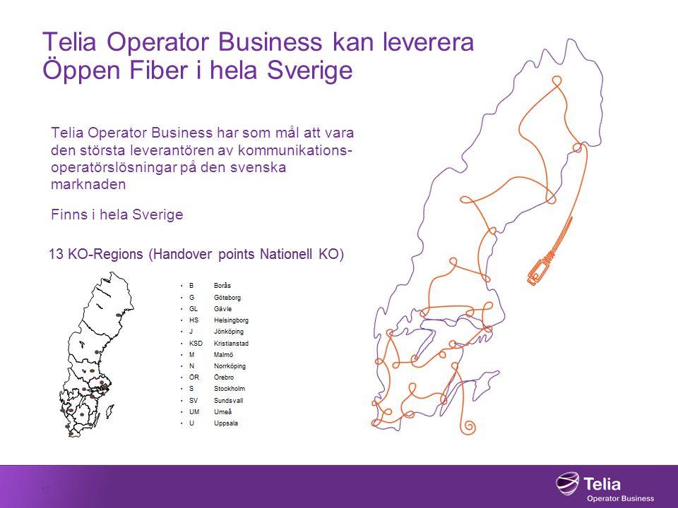 Telia Operator Business kan leverera Öppen Fiber i hela Sverige