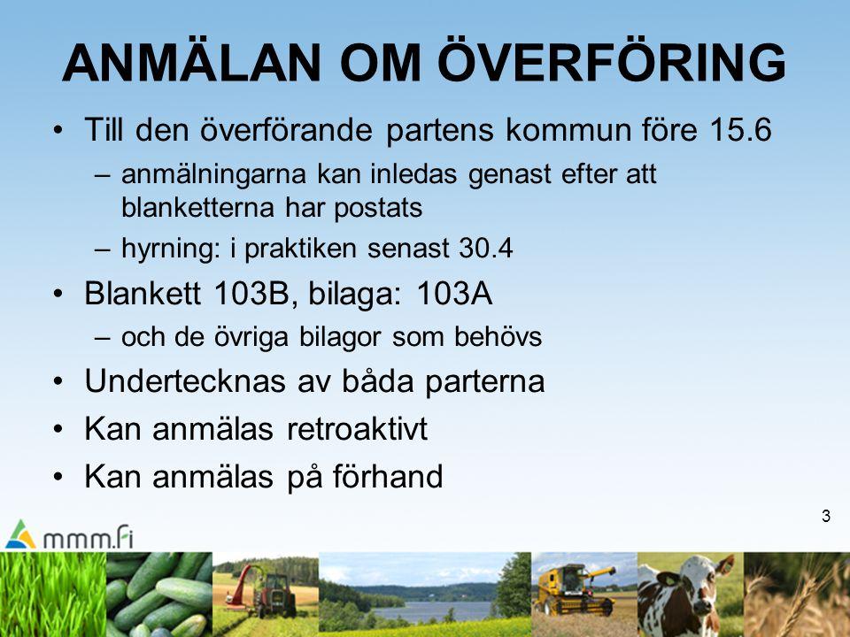 ANMÄLAN OM ÖVERFÖRING Till den överförande partens kommun före 15.6