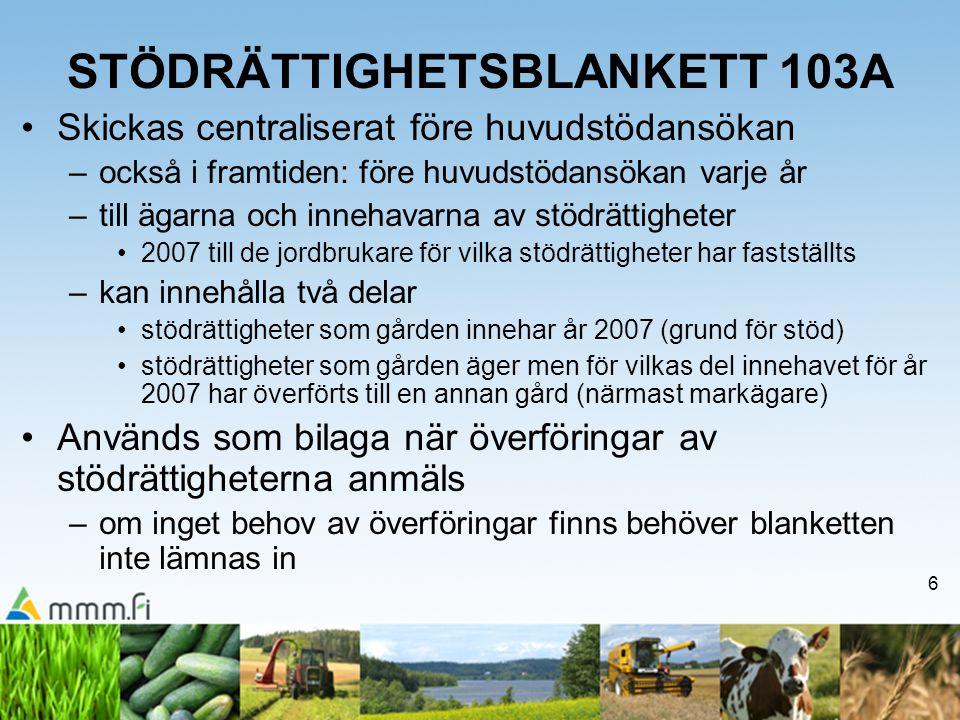 STÖDRÄTTIGHETSBLANKETT 103A