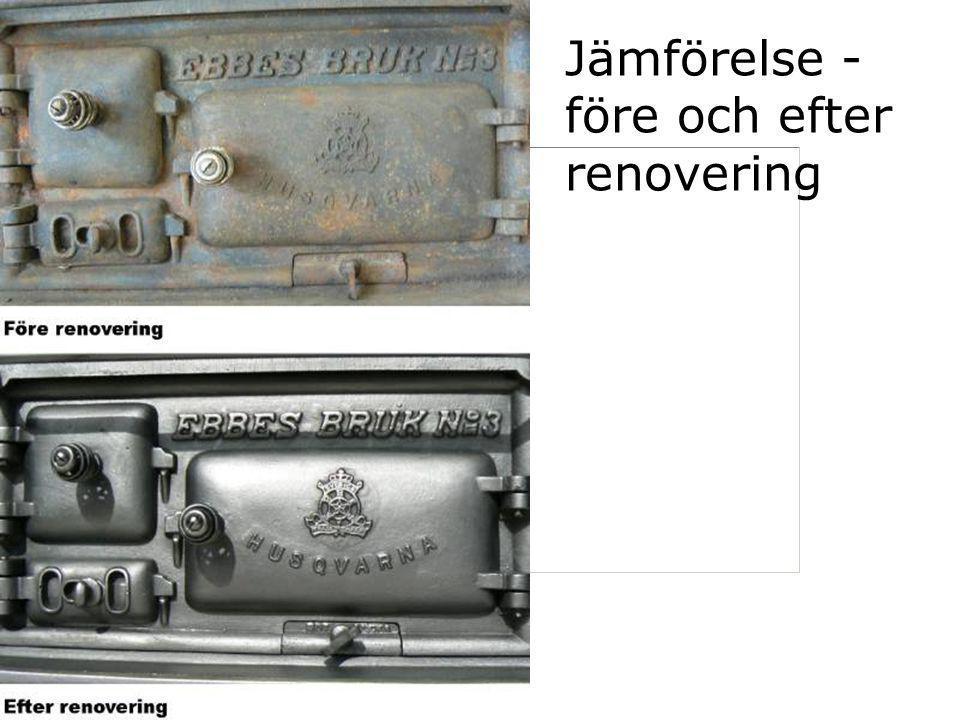Jämförelse - före och efter renovering