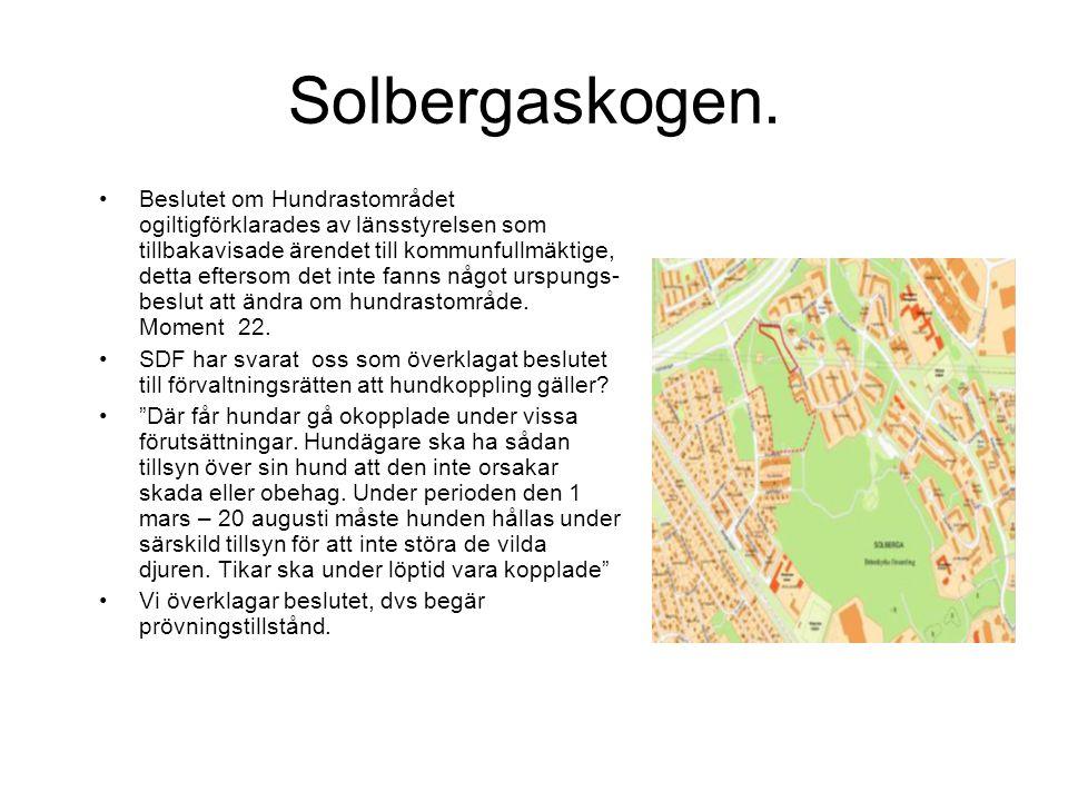 Solbergaskogen.
