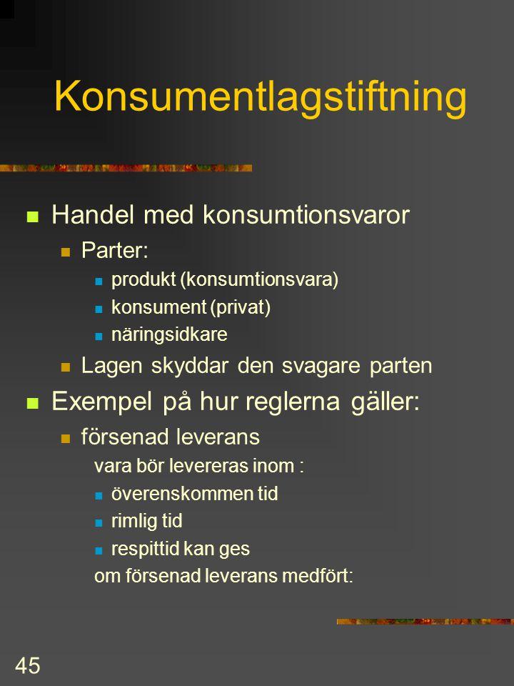Konsumentlagstiftning