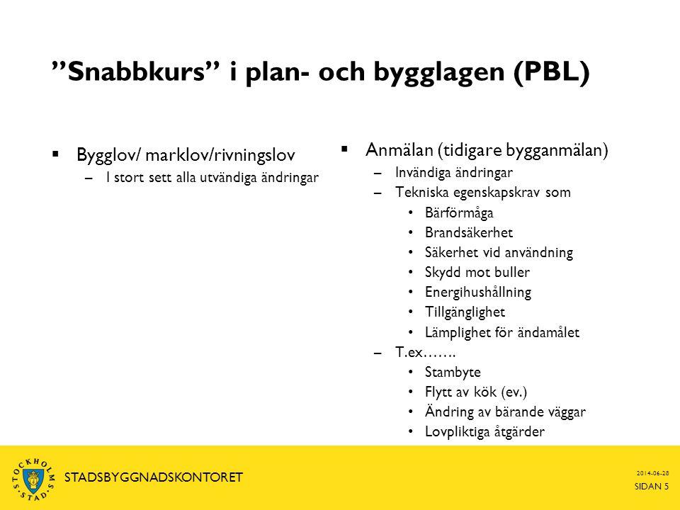Snabbkurs i plan- och bygglagen (PBL)