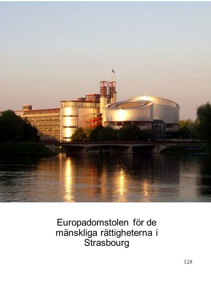 Europadomstolen för de mänskliga rättigheterna i Strasbourg