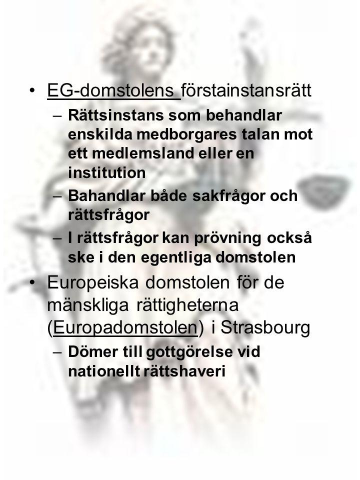 EG-domstolens förstainstansrätt