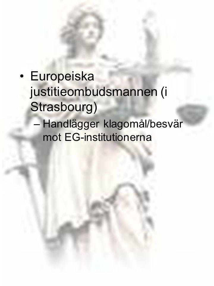 Europeiska justitieombudsmannen (i Strasbourg)