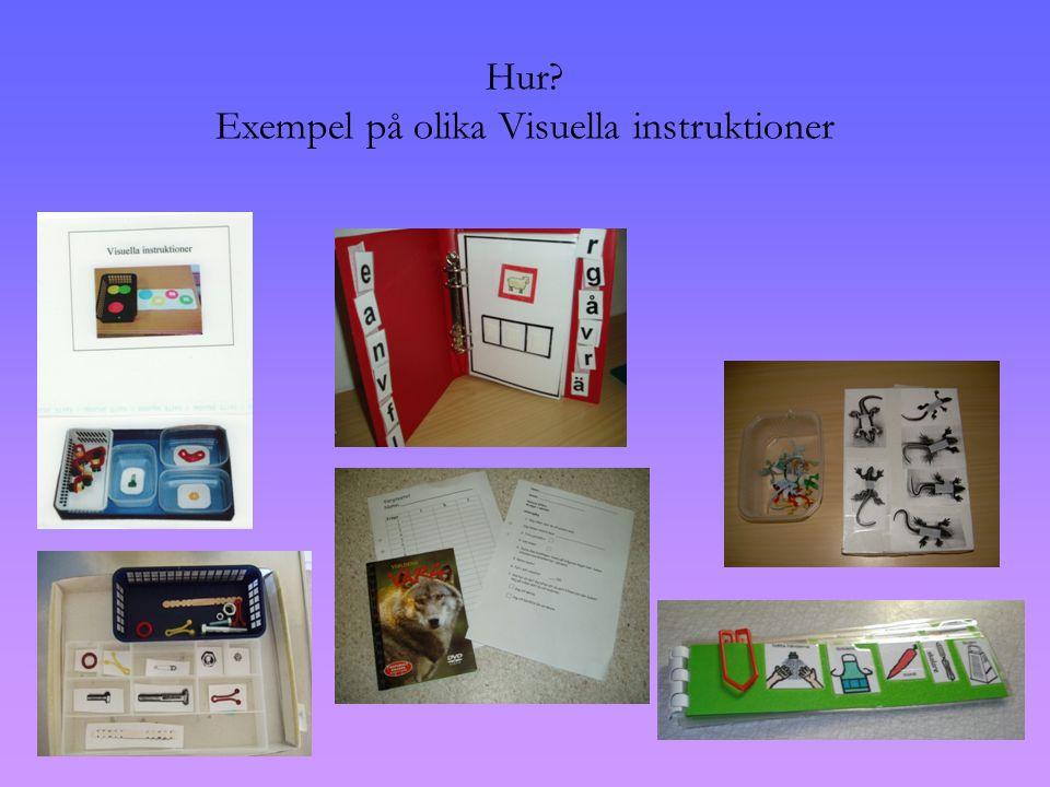 Exempel på olika Visuella instruktioner
