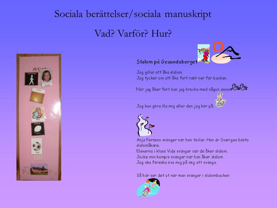 Sociala berättelser/sociala manuskript