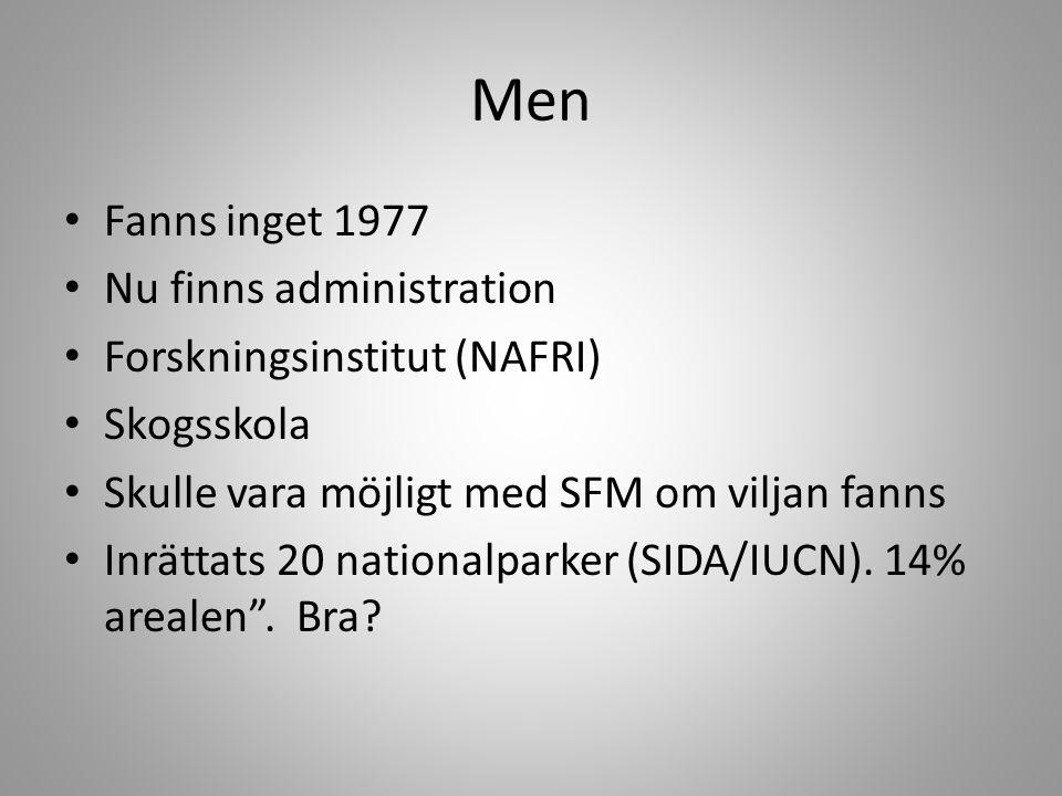 Men Fanns inget 1977 Nu finns administration