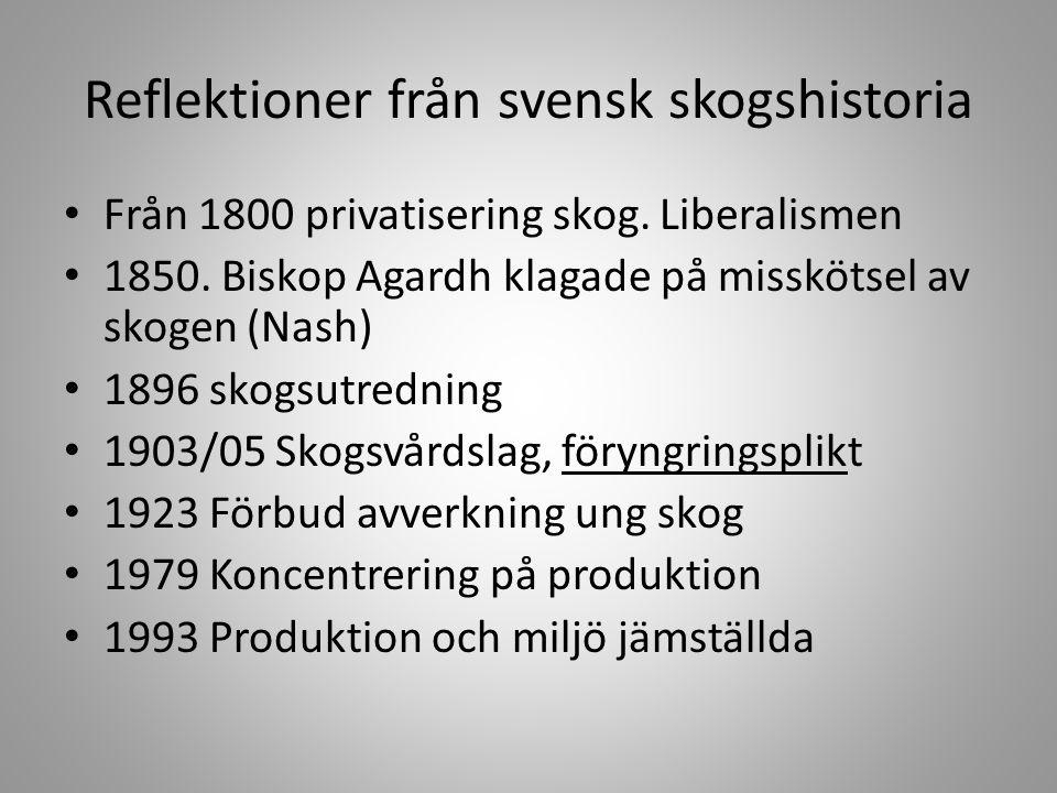 Reflektioner från svensk skogshistoria