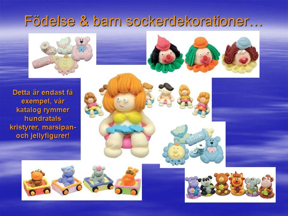 Födelse & barn sockerdekorationer…