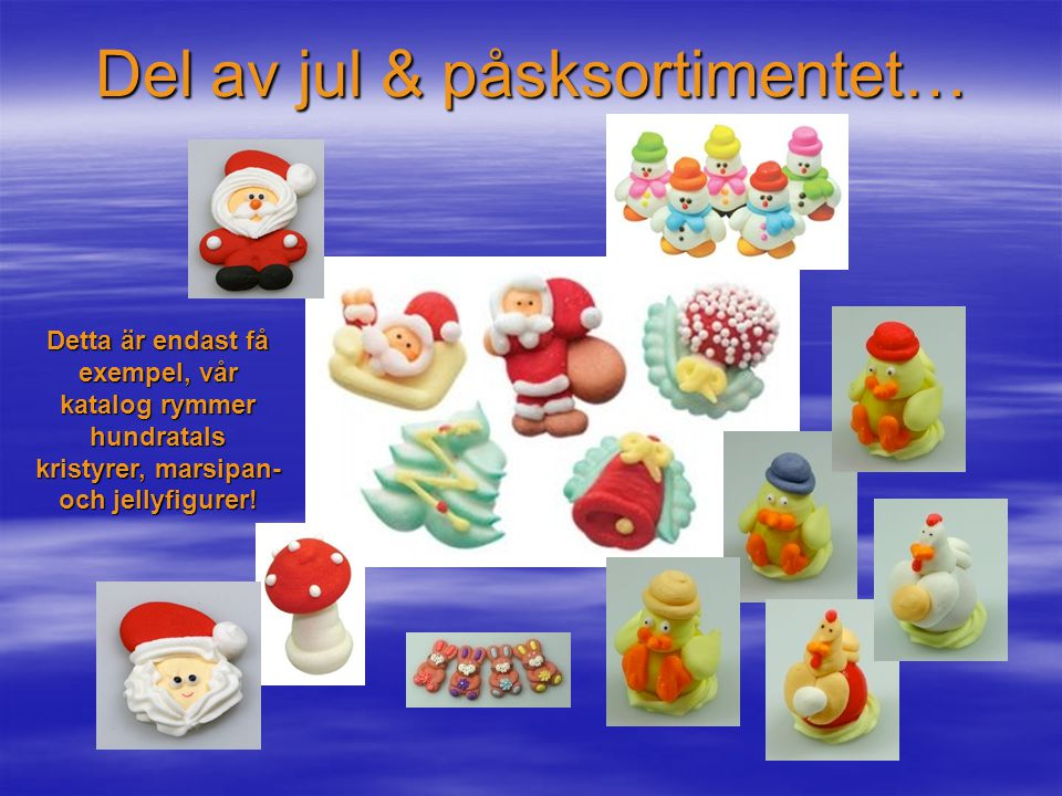 Del av jul & påsksortimentet…
