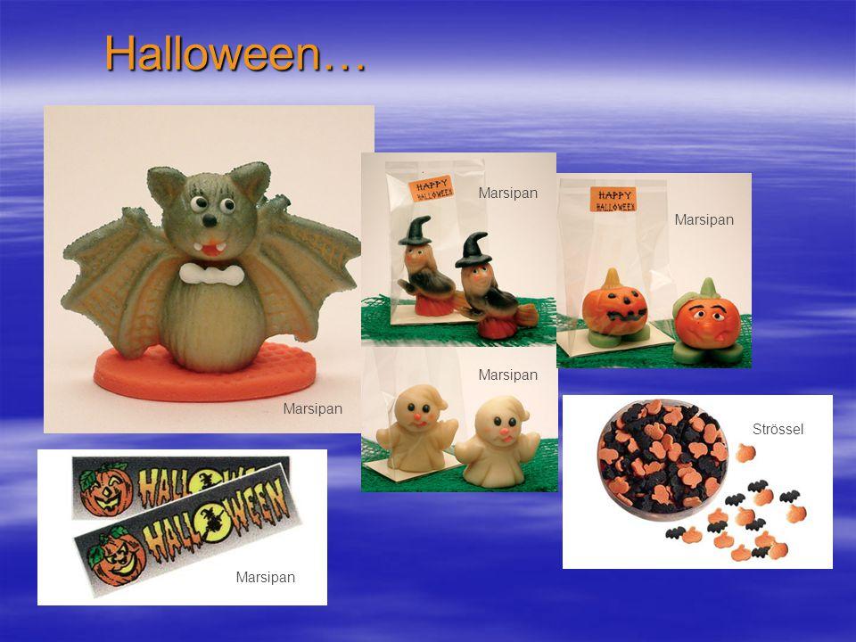 Halloween… Marsipan Marsipan Marsipan Marsipan Strössel Marsipan