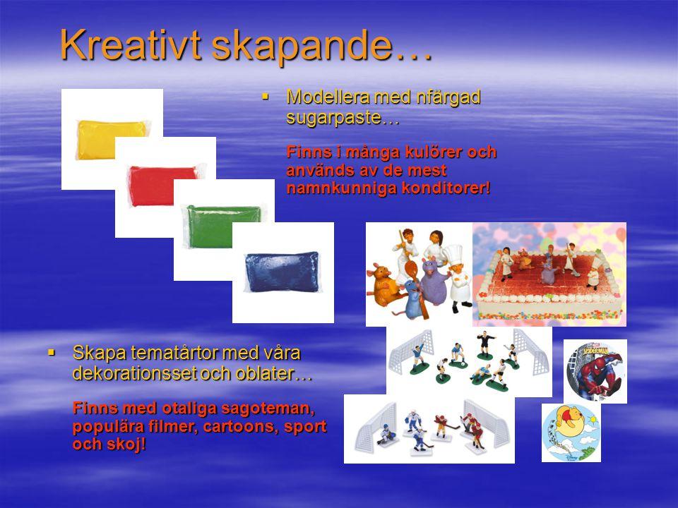 Kreativt skapande… Modellera med nfärgad sugarpaste…
