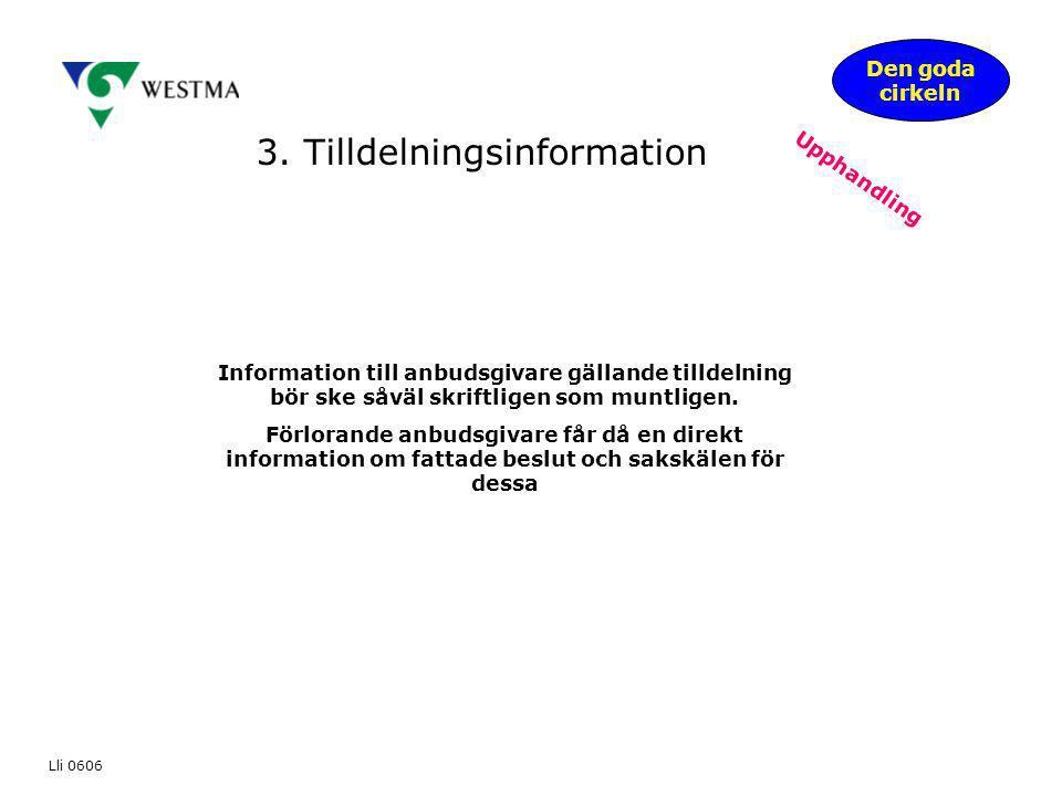 3. Tilldelningsinformation