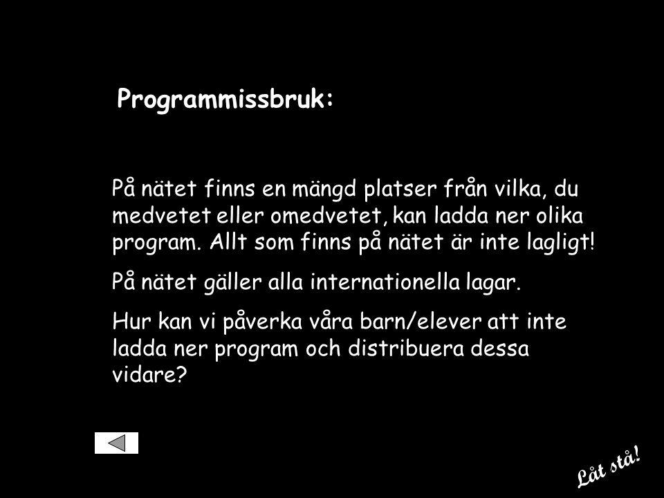 Programmissbruk: