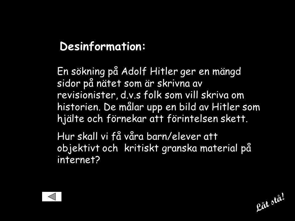 Desinformation:
