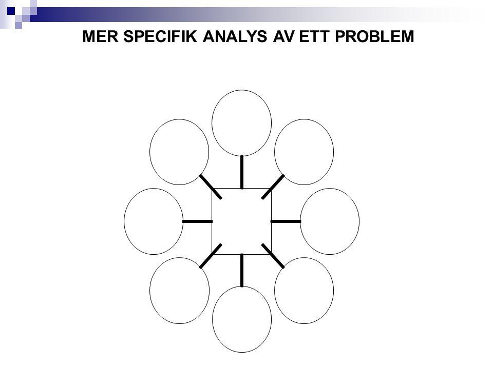MER SPECIFIK ANALYS AV ETT PROBLEM
