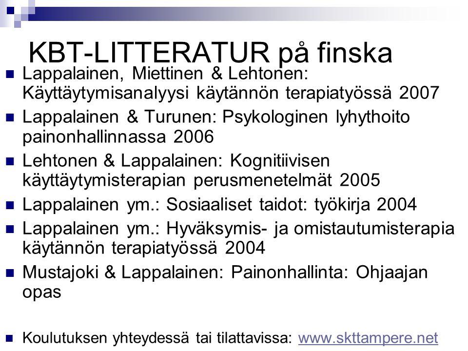 KBT-LITTERATUR på finska