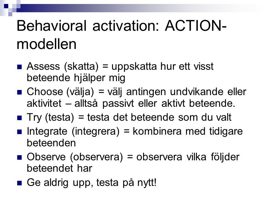 Behavioral activation: ACTION-modellen