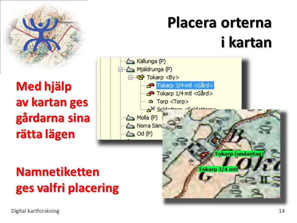 Placera orterna i kartan