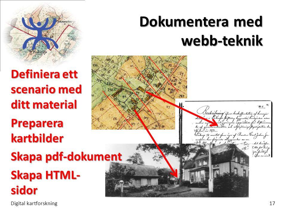 Dokumentera med webb-teknik