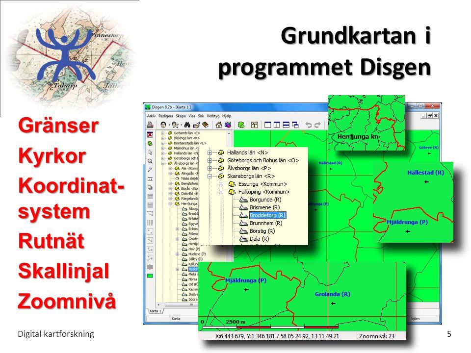 Grundkartan i programmet Disgen