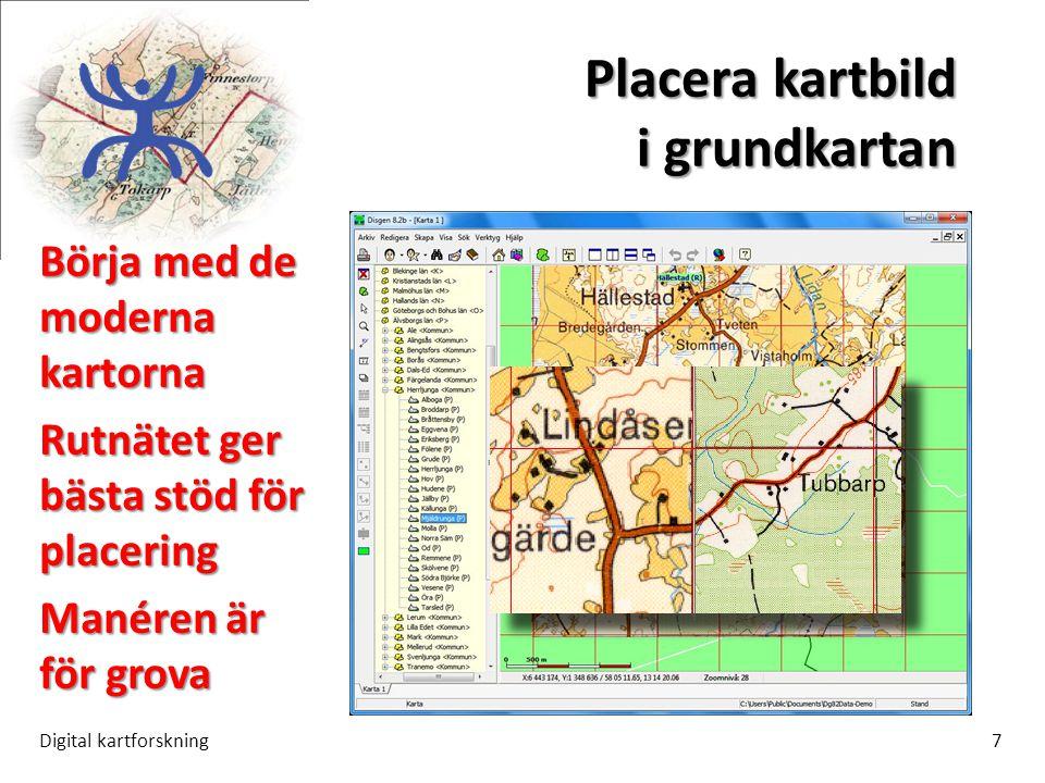 Placera kartbild i grundkartan