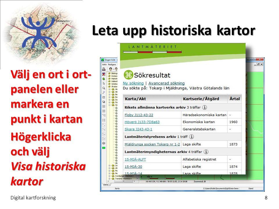 Leta upp historiska kartor