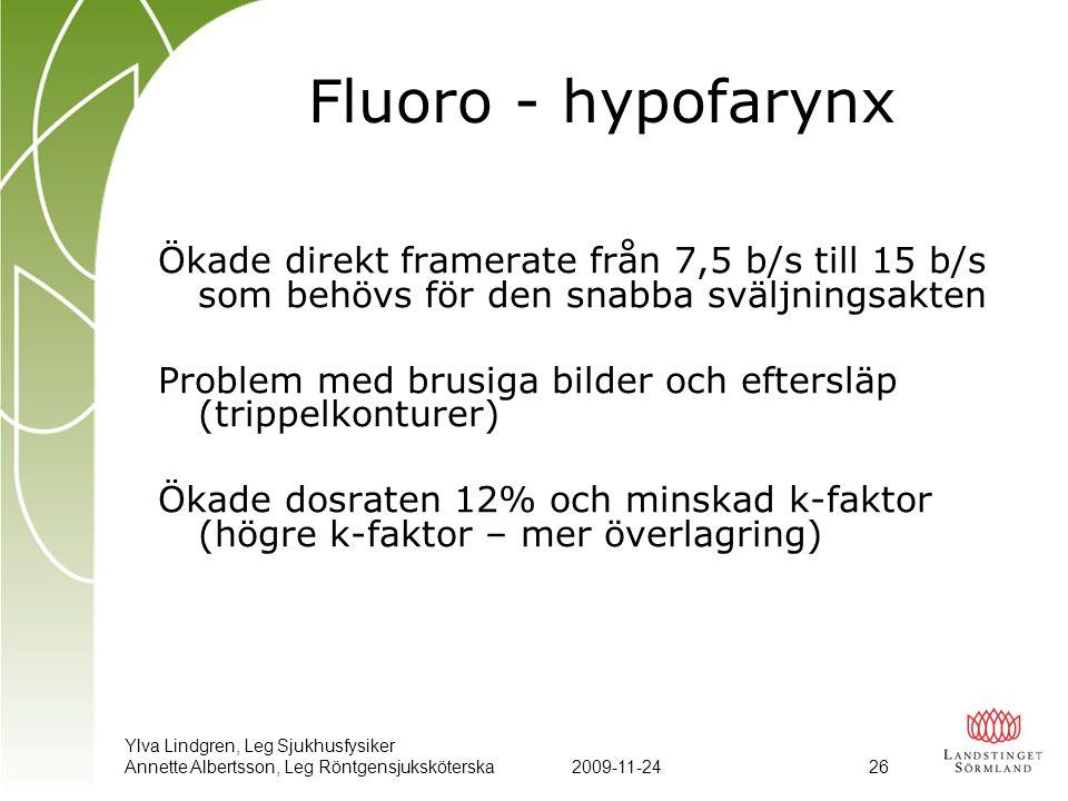 Fluoro - hypofarynx