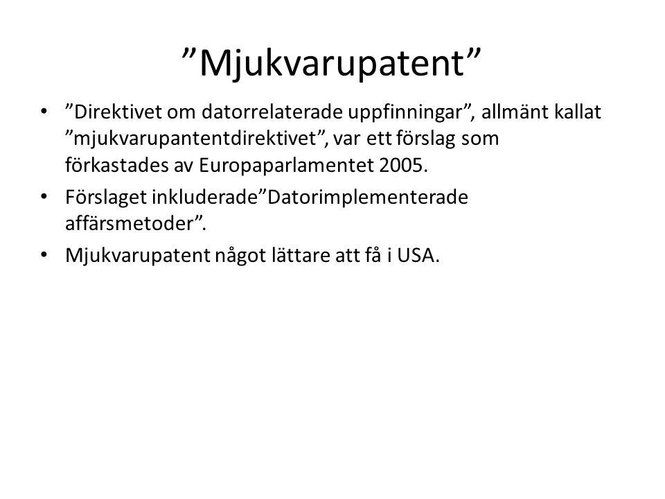 Mjukvarupatent