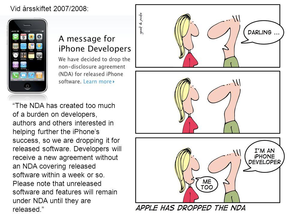 Vid årsskiftet 2007/2008: