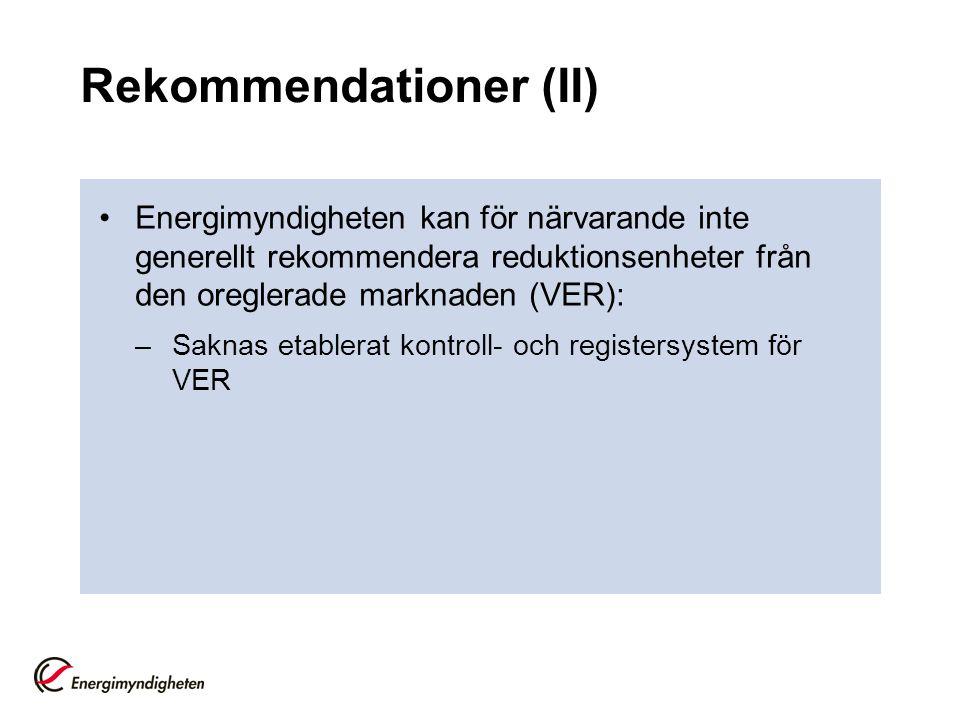 Rekommendationer (II)