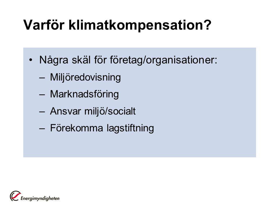 Varför klimatkompensation