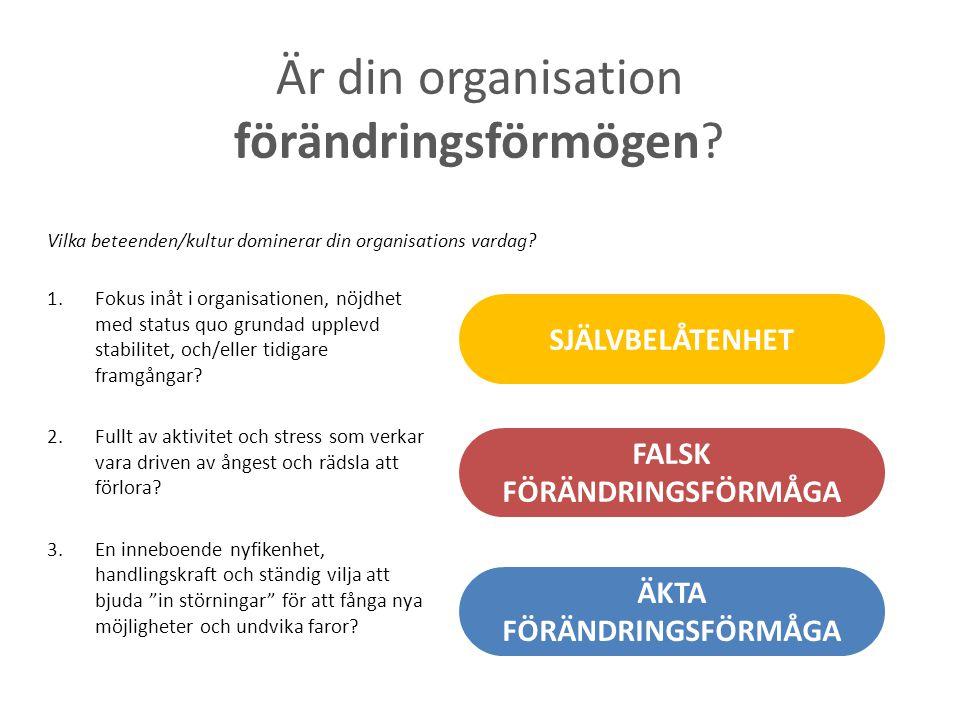 Är din organisation förändringsförmögen