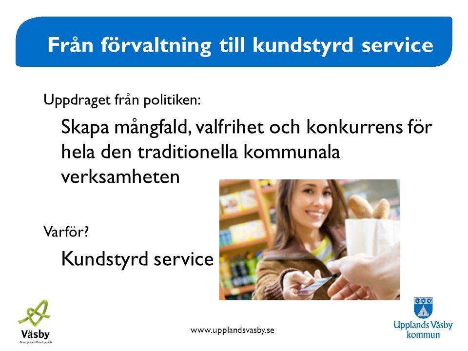 Från förvaltning till kundstyrd service