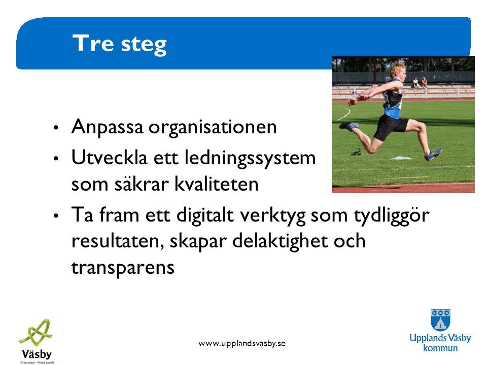 Tre steg Anpassa organisationen