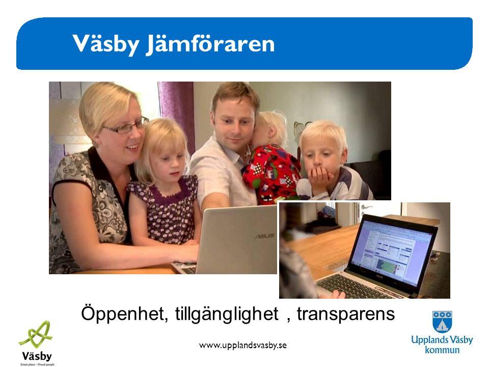Väsby Jämföraren Öppenhet, tillgänglighet , transparens