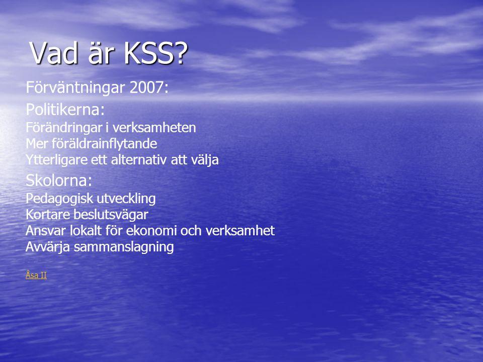 Vad är KSS Förväntningar 2007: Politikerna: Skolorna: