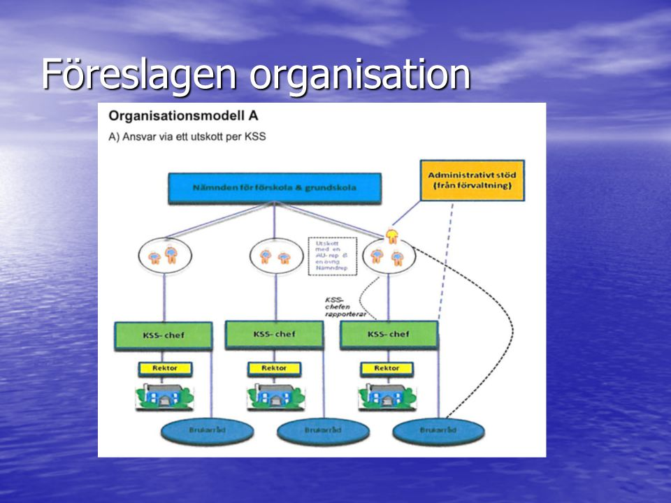Föreslagen organisation
