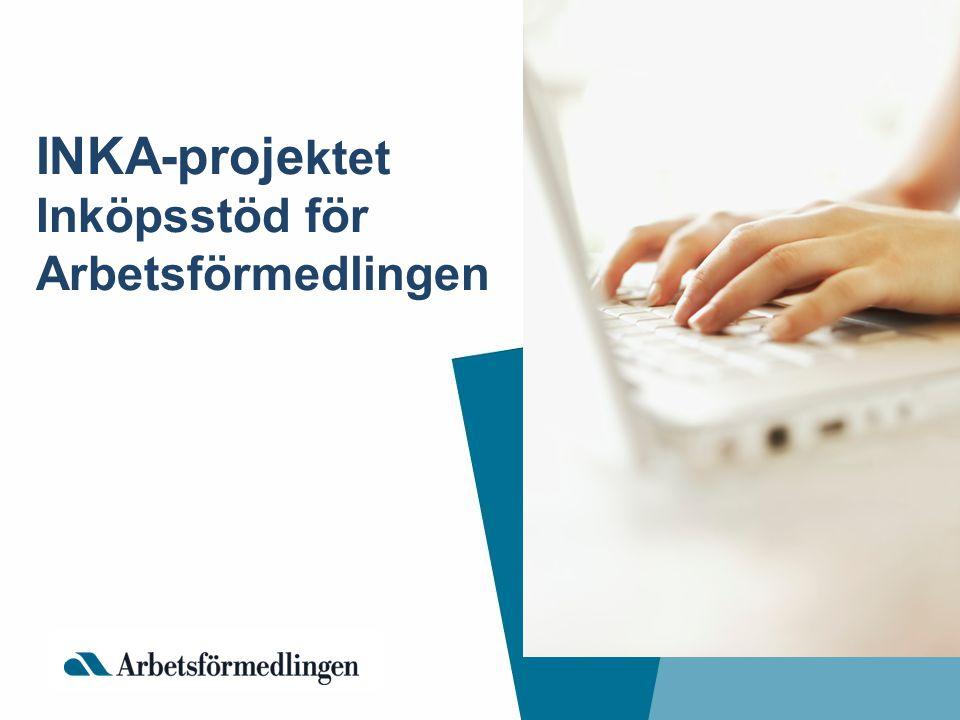 INKA-projektet Inköpsstöd för Arbetsförmedlingen