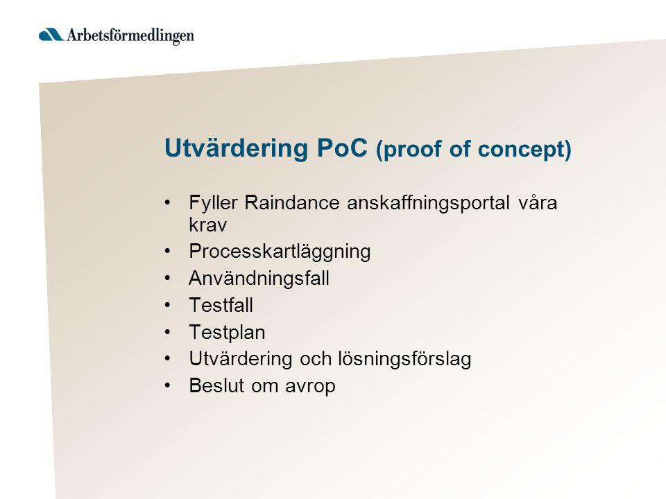 Utvärdering PoC (proof of concept)